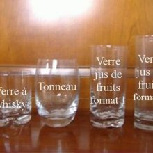 Verre jus de fruits format 2 Motif tribal